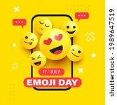 emoji day illustration. emoji... | Shutterstock .eps vector #1989647519