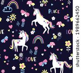 vector seamless pattern with... | Shutterstock .eps vector #1989662450