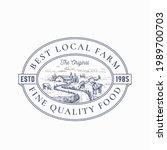 Local Farm Products Retro Frame ...