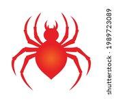 abstract spider in vector... | Shutterstock .eps vector #1989723089
