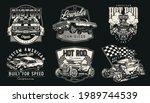 custom american cars vintage... | Shutterstock .eps vector #1989744539