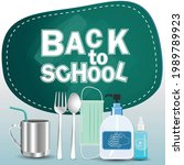 back to school text. for a new... | Shutterstock .eps vector #1989789923