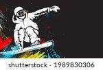 snowboarder in action vector...   Shutterstock .eps vector #1989830306