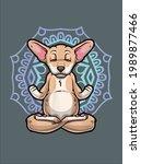 chiweenie mom funny yoga cute... | Shutterstock .eps vector #1989877466