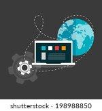 set of flat design concept... | Shutterstock .eps vector #198988850