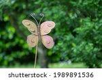 Rusty Metal Butterfly On A...