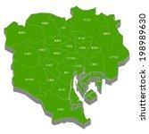 tokyo city map | Shutterstock .eps vector #198989630