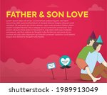 father and son. life insurance... | Shutterstock .eps vector #1989913049