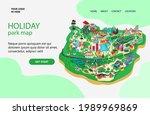 illustration a holiday park map ...   Shutterstock .eps vector #1989969869