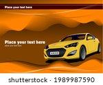yellow  sedan car on the road.... | Shutterstock . vector #1989987590
