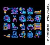 tire fitting service neon light ... | Shutterstock .eps vector #1989996869