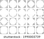 a set of various square frames...   Shutterstock .eps vector #1990003739