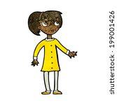 cartoon worried girl | Shutterstock . vector #199001426