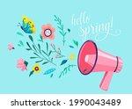 hello spring vector background. ... | Shutterstock .eps vector #1990043489