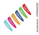 colorful hair clip isolated on... | Shutterstock .eps vector #1990060250