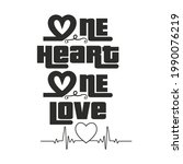 one heart one love husband wife ...   Shutterstock .eps vector #1990076219