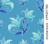 lily seamless pattern | Shutterstock . vector #199007780