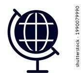 an ilustration vector globe...   Shutterstock .eps vector #1990079990