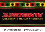juneteenth freedom day. african ...   Shutterstock .eps vector #1990081040