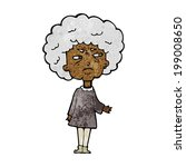 cartoon old lady | Shutterstock . vector #199008650