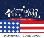 4th of july lettering...   Shutterstock .eps vector #1990103900