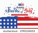 fourth of july lettering...   Shutterstock .eps vector #1990104053