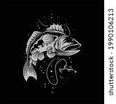 bass fishing illustration...   Shutterstock .eps vector #1990106213