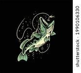 bass fishing illustration...   Shutterstock .eps vector #1990106330