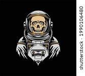 skull astronaut illustration... | Shutterstock .eps vector #1990106480
