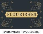 flourishes calligraphic vintage ...   Shutterstock .eps vector #1990107383