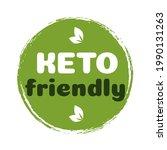 keto friendly sign diet...   Shutterstock .eps vector #1990131263