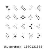 sparkle flat icon set. shimmer  ...   Shutterstock .eps vector #1990131593