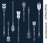vector set of ethnic arrows | Shutterstock .eps vector #199013900