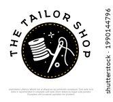 modern tailor shop logo design. ... | Shutterstock .eps vector #1990144796