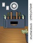 illustration of interior design....   Shutterstock .eps vector #1990147049