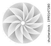 radial speed lines in spiral...   Shutterstock .eps vector #1990147280