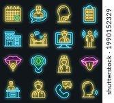 speech therapist icons set....   Shutterstock .eps vector #1990152329