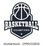 basketball logo in flat style....   Shutterstock .eps vector #1990152833
