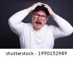 portrait of an emotional man... | Shutterstock . vector #1990152989