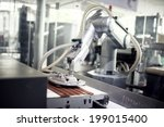 chocolate production line in... | Shutterstock . vector #199015400
