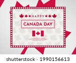 canada day celebration...   Shutterstock .eps vector #1990156613