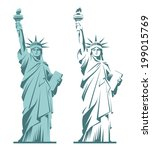 statue of liberty graphic... | Shutterstock .eps vector #199015769