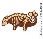dinosaur skeleton in cartoon...   Shutterstock .eps vector #1990161353