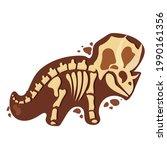 dinosaur skeleton in cartoon...   Shutterstock .eps vector #1990161356