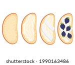 sandwich with butter and...   Shutterstock .eps vector #1990163486