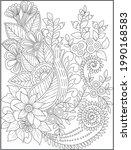 hand drawn flower artistic...   Shutterstock .eps vector #1990168583