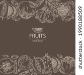 background with fruits  figs...   Shutterstock .eps vector #1990188509