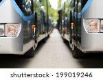 new modern city bus | Shutterstock . vector #199019246