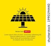 solar energy vector icon...   Shutterstock .eps vector #1990194440