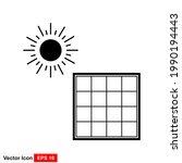 solar energy vector icon...   Shutterstock .eps vector #1990194443